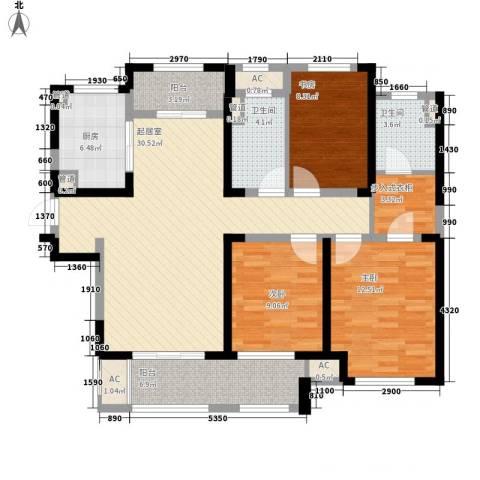 新城香悦半岛3室0厅2卫1厨133.00㎡户型图