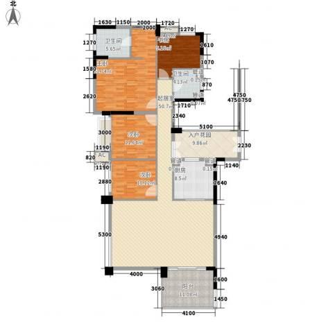 万科虹溪诺雅别墅4室0厅2卫1厨180.00㎡户型图