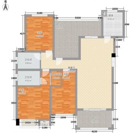 格兰小镇3室1厅2卫1厨120.00㎡户型图