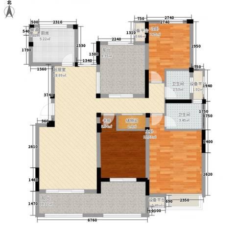 小天鹅品园3室0厅2卫1厨132.00㎡户型图