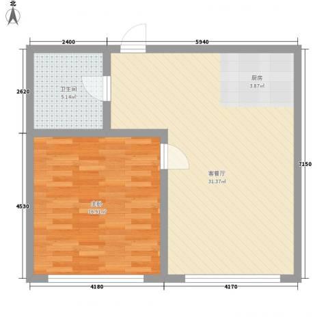邻蠡中心1室1厅1卫0厨75.00㎡户型图