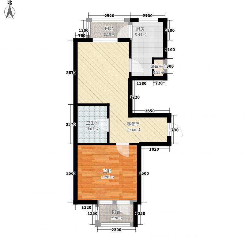 长鹭晶品枫林56.58㎡长鹭晶品枫林1室户型1室