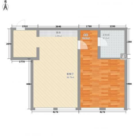 邻蠡中心1室1厅1卫0厨81.00㎡户型图