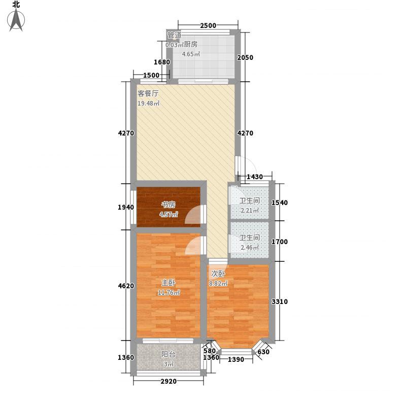 舜清苑83.68㎡舜清苑户型图三室一厅一卫户型3室1厅1卫户型3室1厅1卫