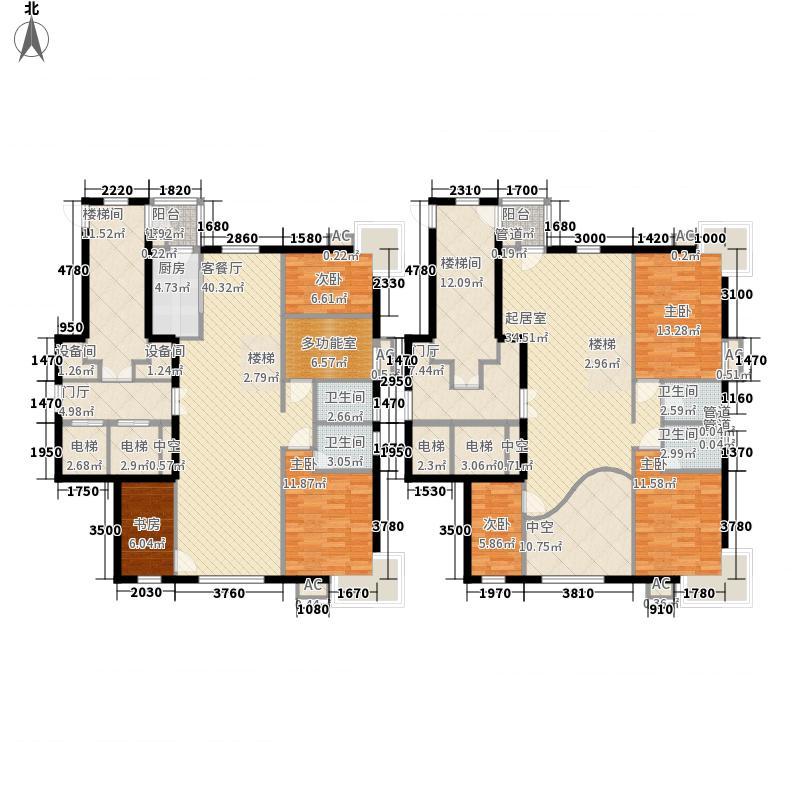 紫金长安313.20㎡二期Ay户型6室3厅4卫1厨