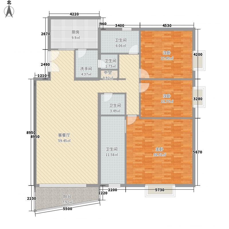 御景园228.00㎡户型3室2厅3卫1厨
