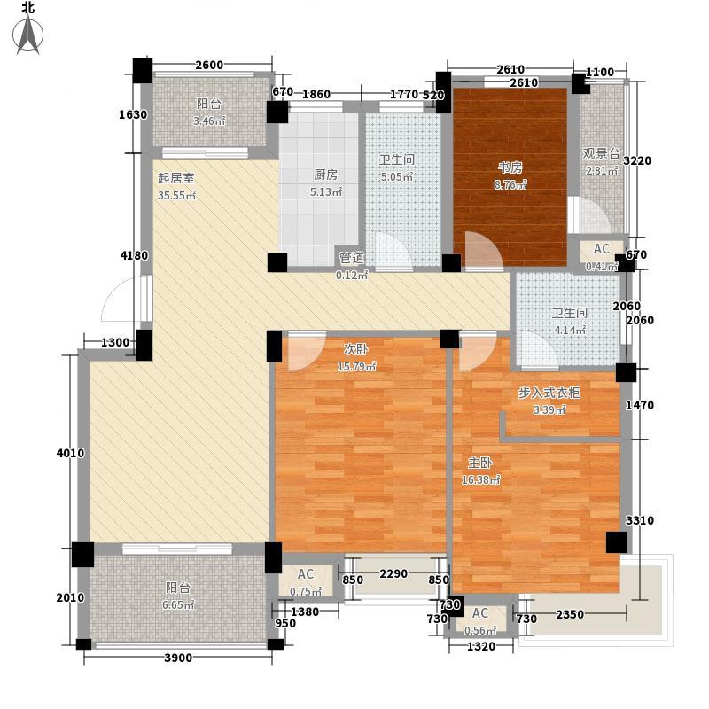 尚城117.64㎡尚城户型图多层D3户型3室2厅2卫1厨户型3室2厅2卫1厨