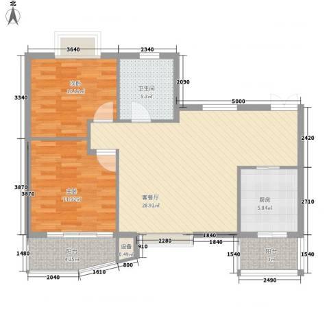 南峰花园2室1厅1卫1厨98.00㎡户型图