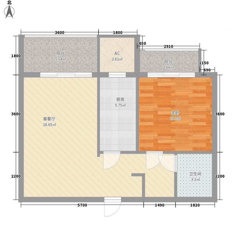 左岸景林85.00㎡左岸景林户型图公寓三户型1室1厅1卫1厨户型1室1厅1卫1厨