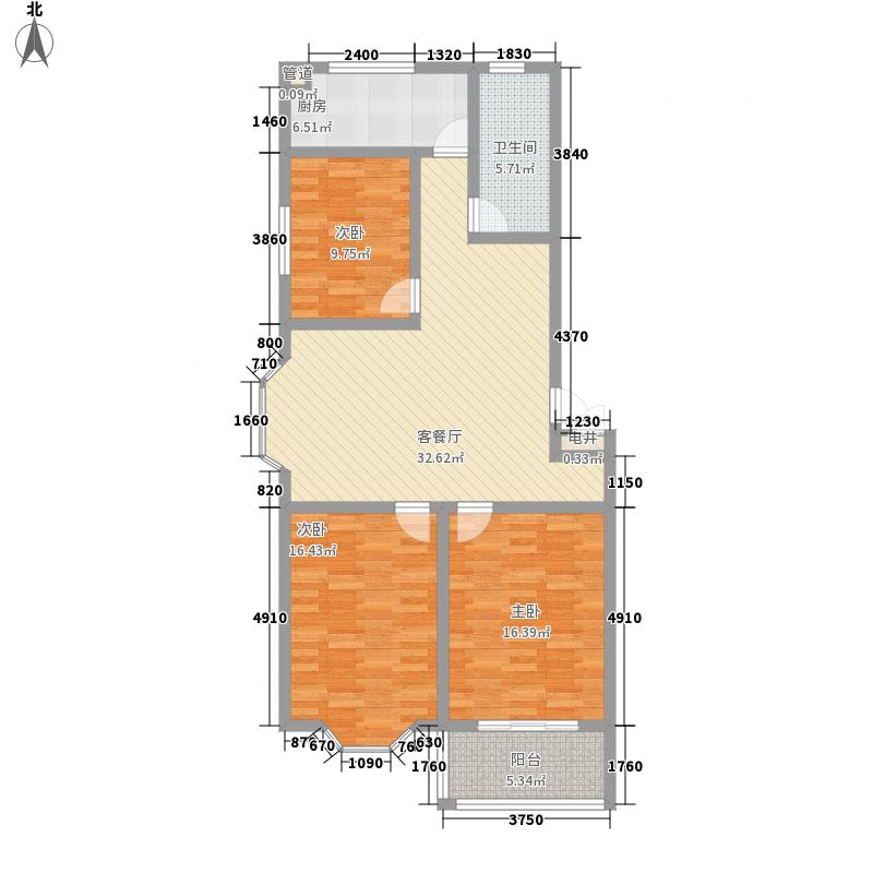 锦绣苑121.60㎡G2户型3室2厅1卫1厨