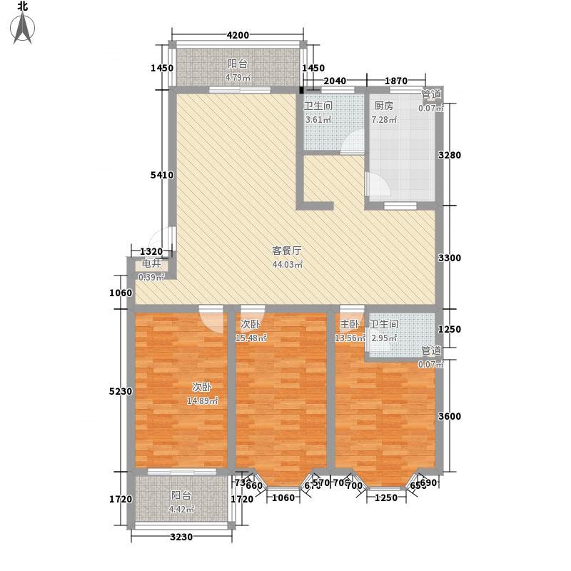 锦绣苑132.60㎡C户型3室2厅1卫1厨