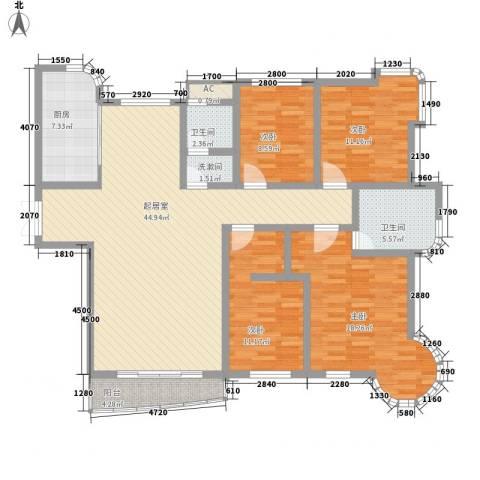东北明珠4室0厅2卫1厨169.00㎡户型图