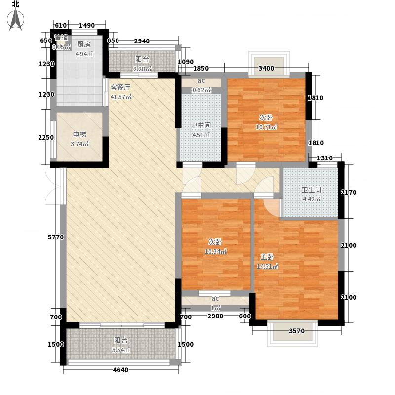 京东小区F区130.00㎡京东小区F区5室户型5室