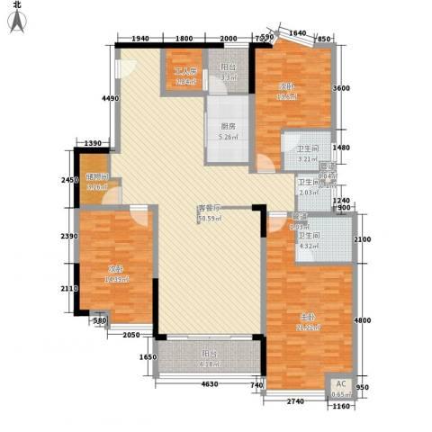 湖景壹号庄园别墅3室1厅3卫1厨149.45㎡户型图
