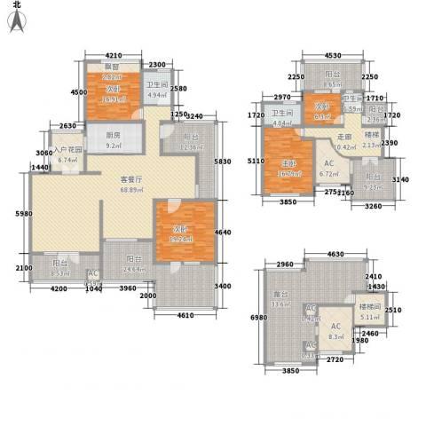 金色家园4室1厅3卫1厨285.91㎡户型图