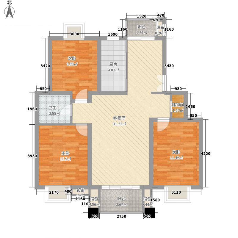 三湘世纪花城116.00㎡上海三湘世纪花城户型10室