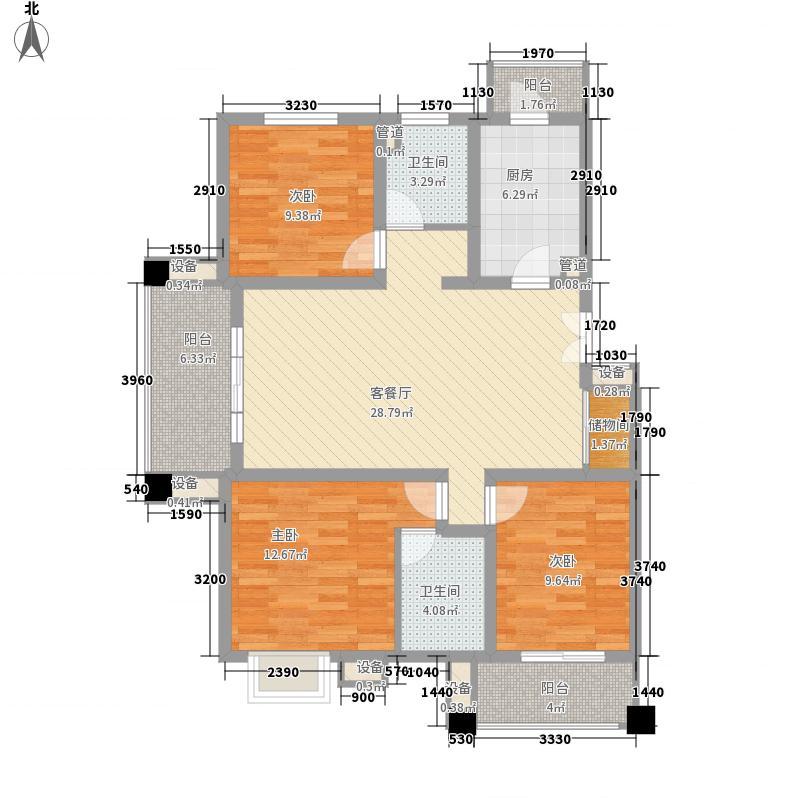 三湘世纪花城131.00㎡上海三湘世纪花城户型10室