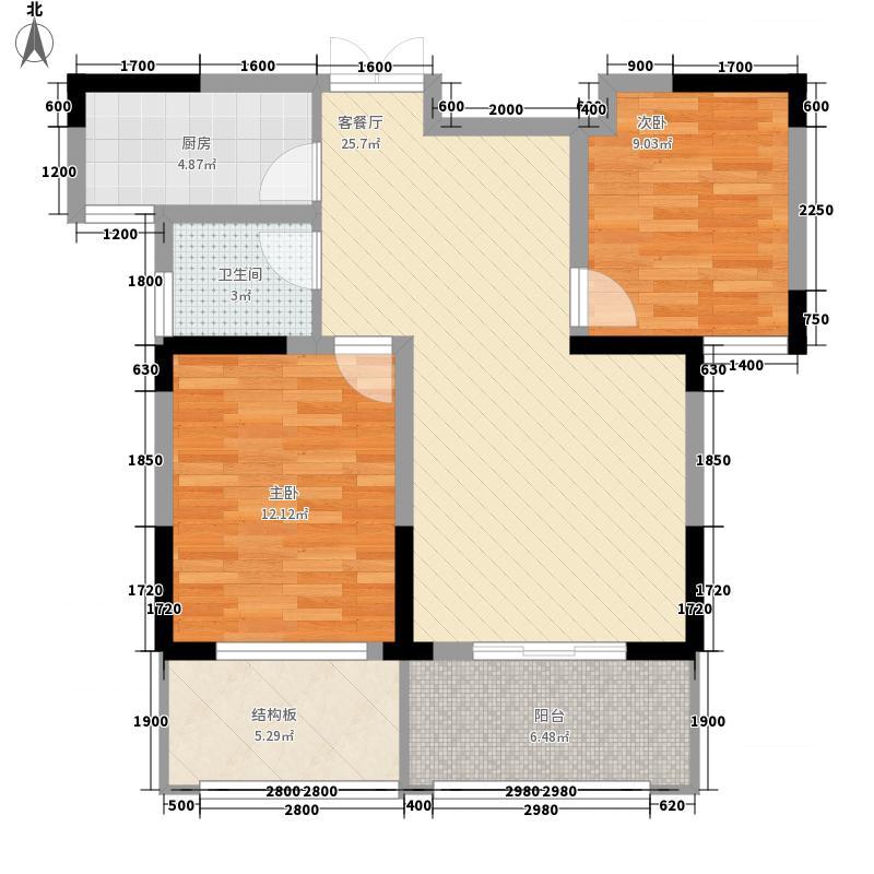 江南香格里拉江南香格里拉户型图2房2厅.4jpg_调整大小2室2厅1卫1厨户型2室2厅1卫1厨