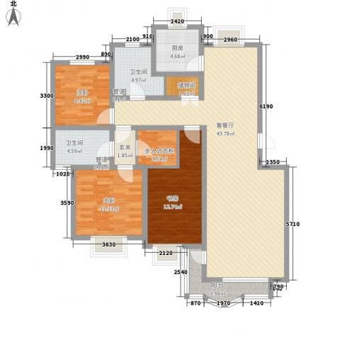 翔宇盛乐新城3室1厅2卫1厨129.00㎡户型图