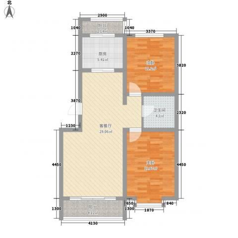 翔宇盛乐新城2室1厅1卫1厨94.00㎡户型图