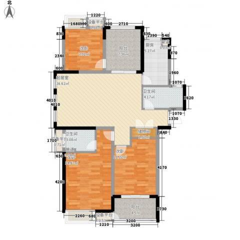 小天鹅品园3室0厅2卫1厨126.00㎡户型图