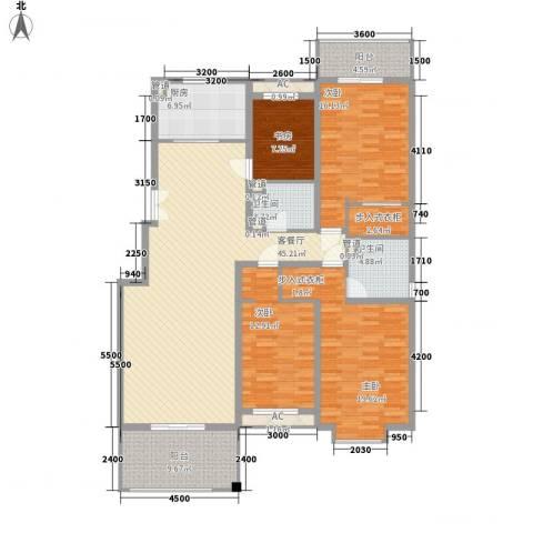 浅水湾城市花园4室1厅2卫1厨154.64㎡户型图
