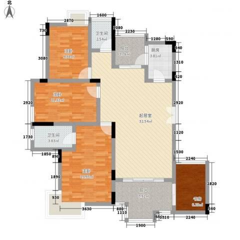 阳光海岸宽寓4室0厅2卫1厨157.00㎡户型图