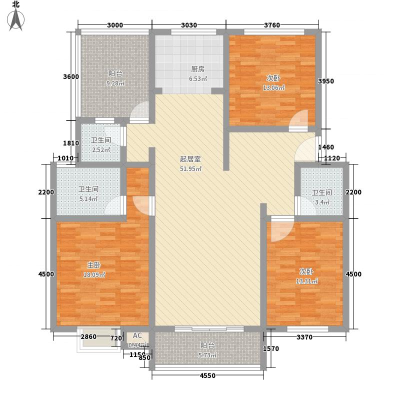 华田亲水湾144.75㎡华田亲水湾户型图E13室3厅2卫1厨户型3室3厅2卫1厨