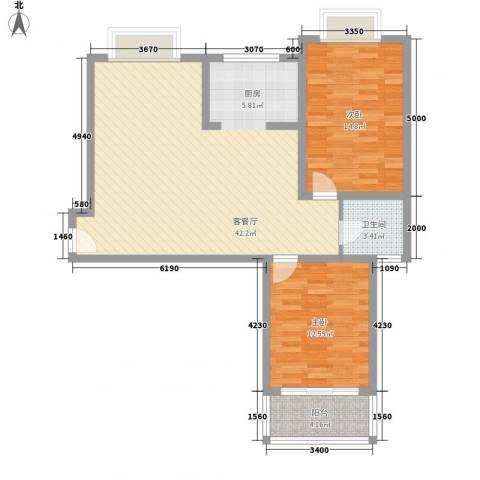 随园锦湖公寓2室1厅1卫0厨109.00㎡户型图