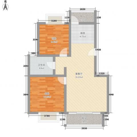 随园锦湖公寓2室1厅1卫0厨94.00㎡户型图