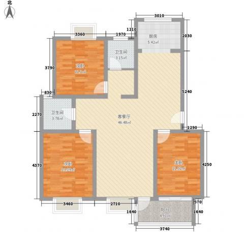 随园锦湖公寓3室1厅2卫0厨137.00㎡户型图