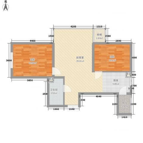 提拉米苏2室0厅1卫0厨67.82㎡户型图