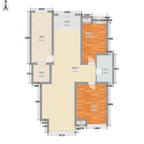 随园锦湖公寓2室1厅1卫0厨103.00㎡户型图