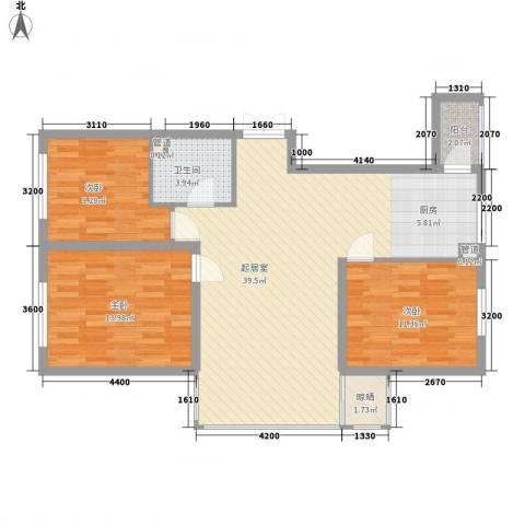 提拉米苏3室0厅1卫0厨82.09㎡户型图