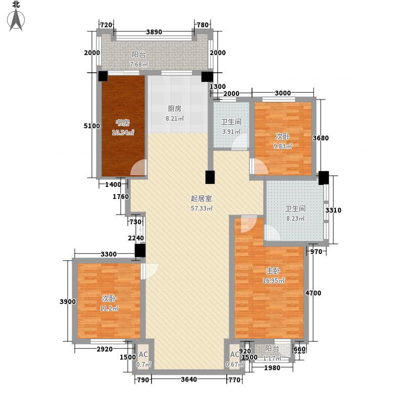 俪兹国际花园6#楼一单元标准层户型