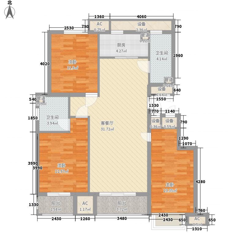 水悦阳光136.38㎡水悦阳光户型图K户型和谐逸居3室2厅2卫1厨户型3室2厅2卫1厨