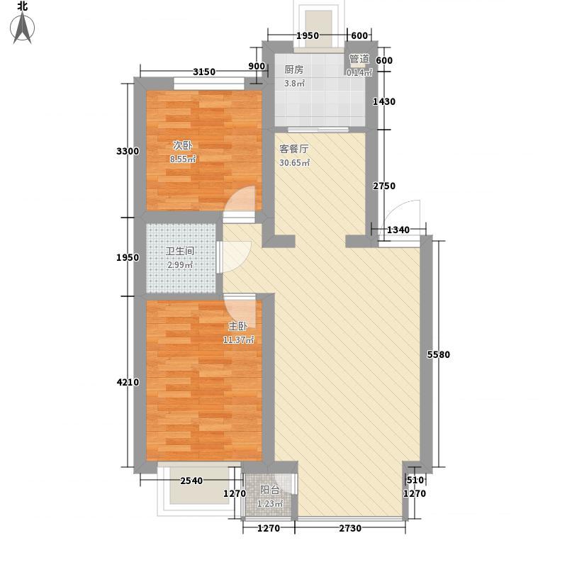 浅水湾78.00㎡浅水湾户型图2室2厅户型10室