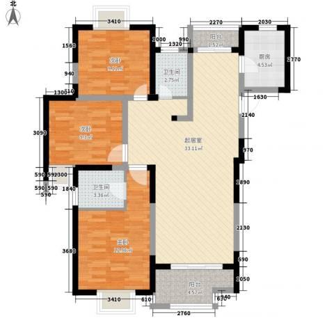 金都花园3室0厅2卫1厨118.00㎡户型图
