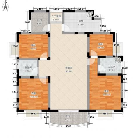 丰景佳园4室1厅2卫1厨163.00㎡户型图