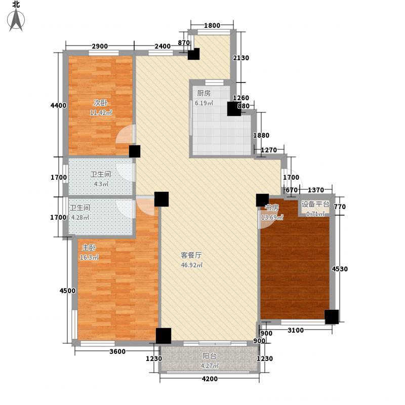 长鹭晶品枫林137.02㎡长鹭晶品枫林3室户型3室