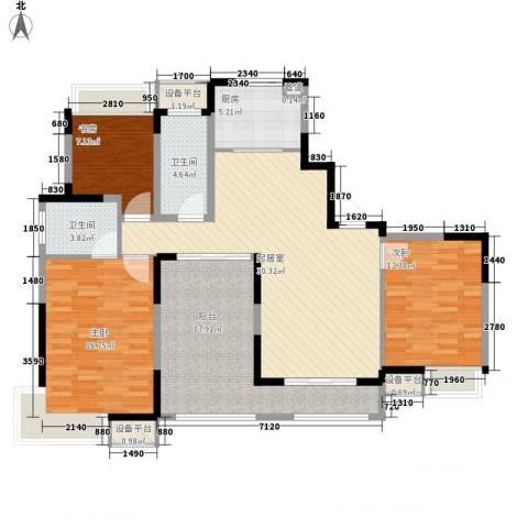 小天鹅品园3室0厅2卫1厨144.00㎡户型图
