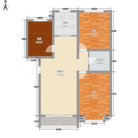 翔宇盛乐新城3室1厅1卫1厨112.00㎡户型图