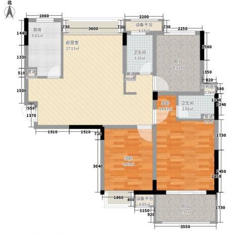 小天鹅品园2室0厅2卫1厨114.00㎡户型图