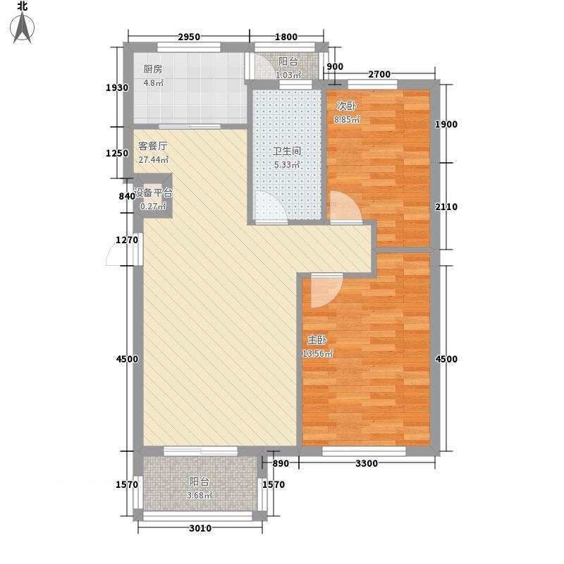 长鹭晶品枫林85.57㎡长鹭晶品枫林2室户型2室