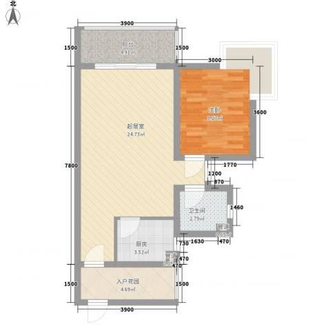 锦绣蓝湾1室0厅1卫1厨73.00㎡户型图