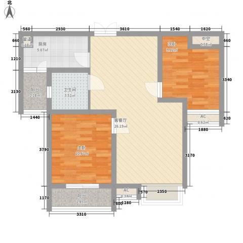 嘉宏盛世2室1厅1卫1厨93.00㎡户型图