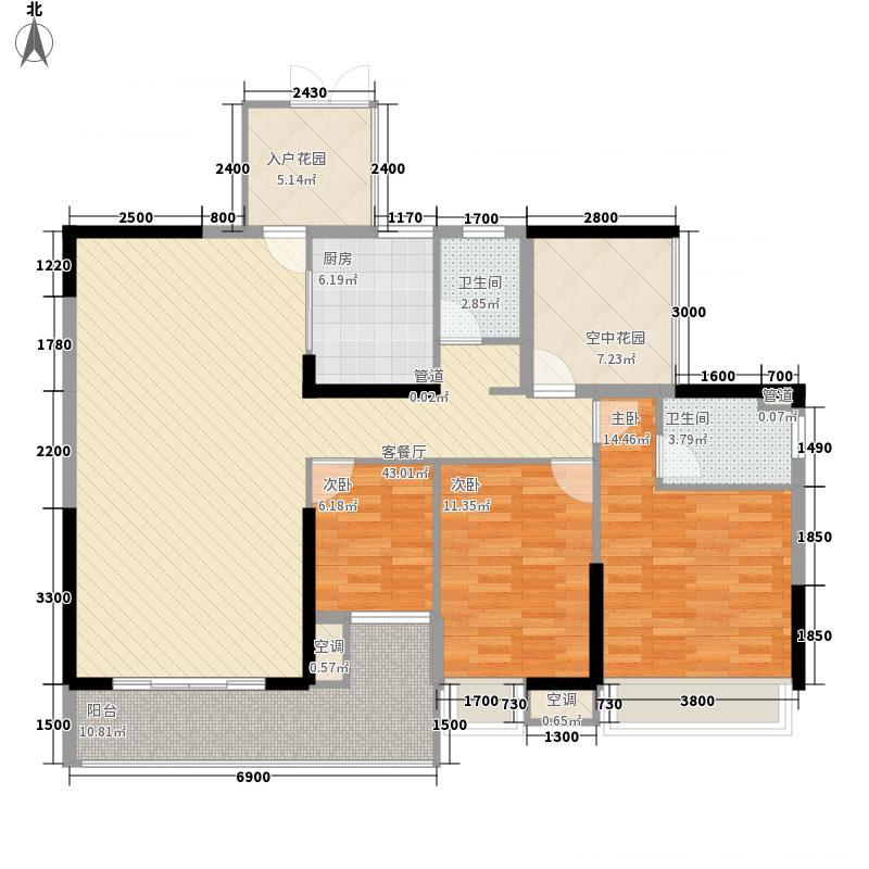 江宇世纪城133.60㎡5、6#楼1单元01/2单元02户型4室2厅2卫1厨