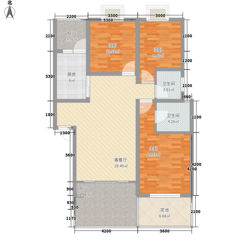 �亭合院18.30㎡b3型户型3室2厅2卫1厨