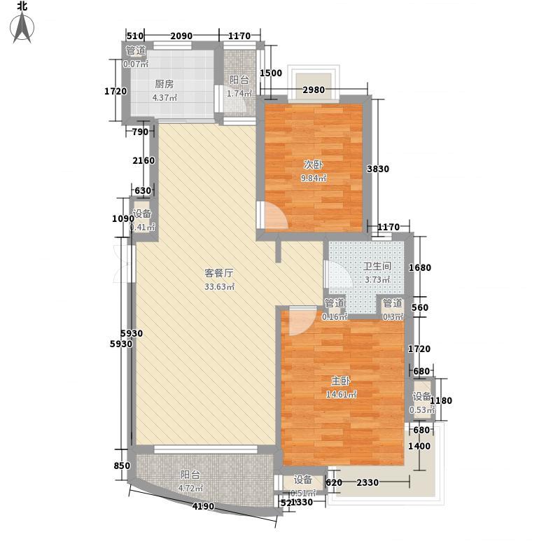 东方观邸107.01㎡东方观邸户型图C2户型2室2厅1卫1厨户型2室2厅1卫1厨