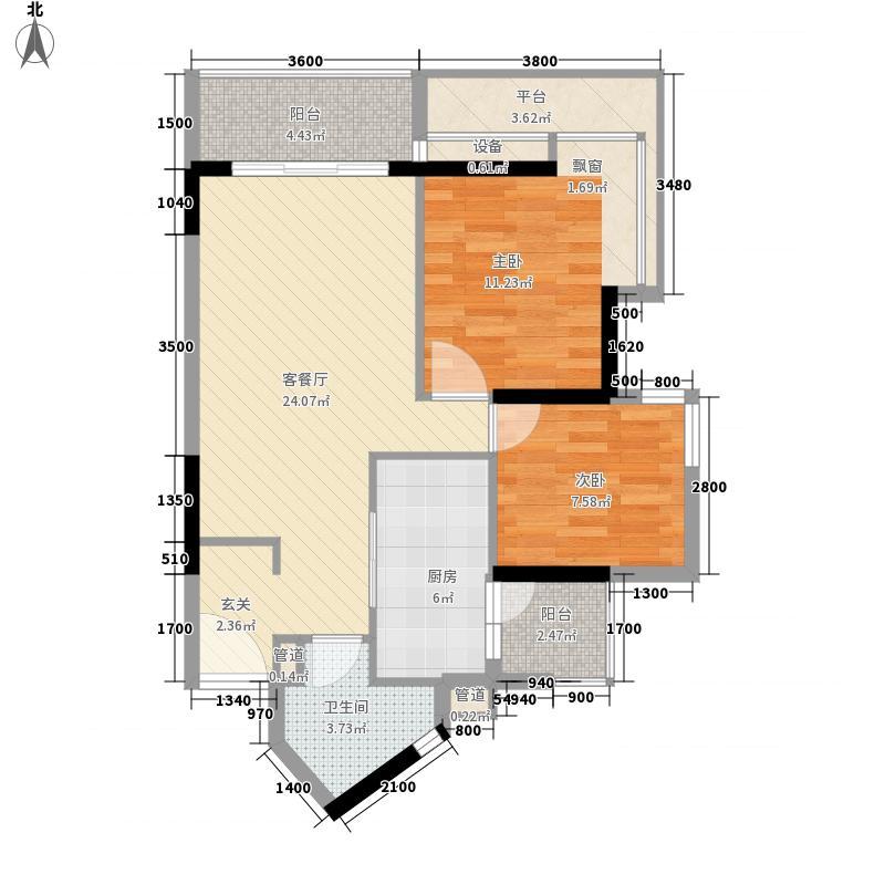 金丰大厦82.71㎡金丰大厦2室户型图06单元户型10室
